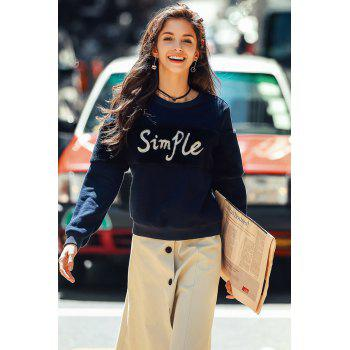 Faux Fur Insert Embroidered Sweatshirt