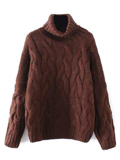 Cable Knit Turtle Neck Sweater fancy pullover turtle neck knit crop sweater