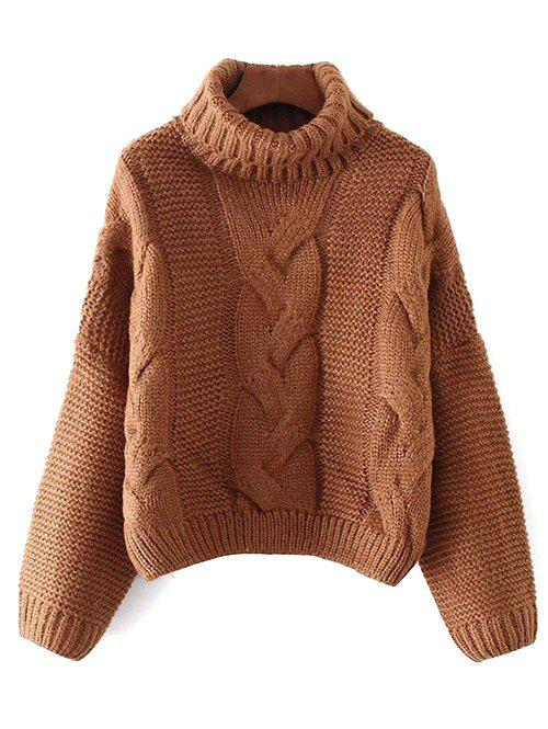 Oversized Turtle Neck Cable Knit Sweater fancy pullover turtle neck knit crop sweater