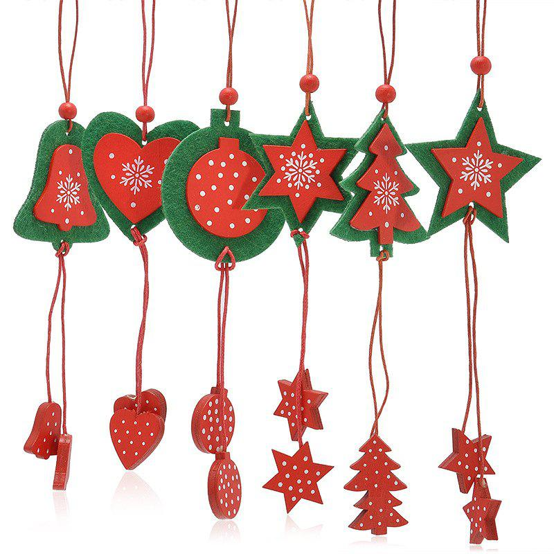Christmas Tree Decoration 12PCS Hanging Pendants - RED