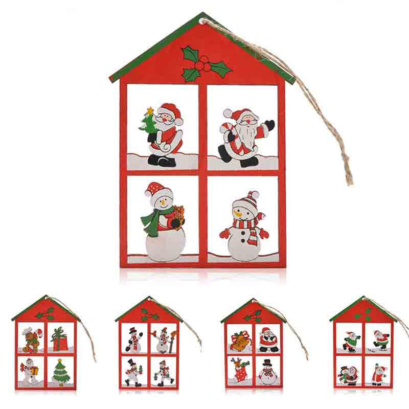 Snowman Christmas Decoration 12PCS Hanging Pendants - RED
