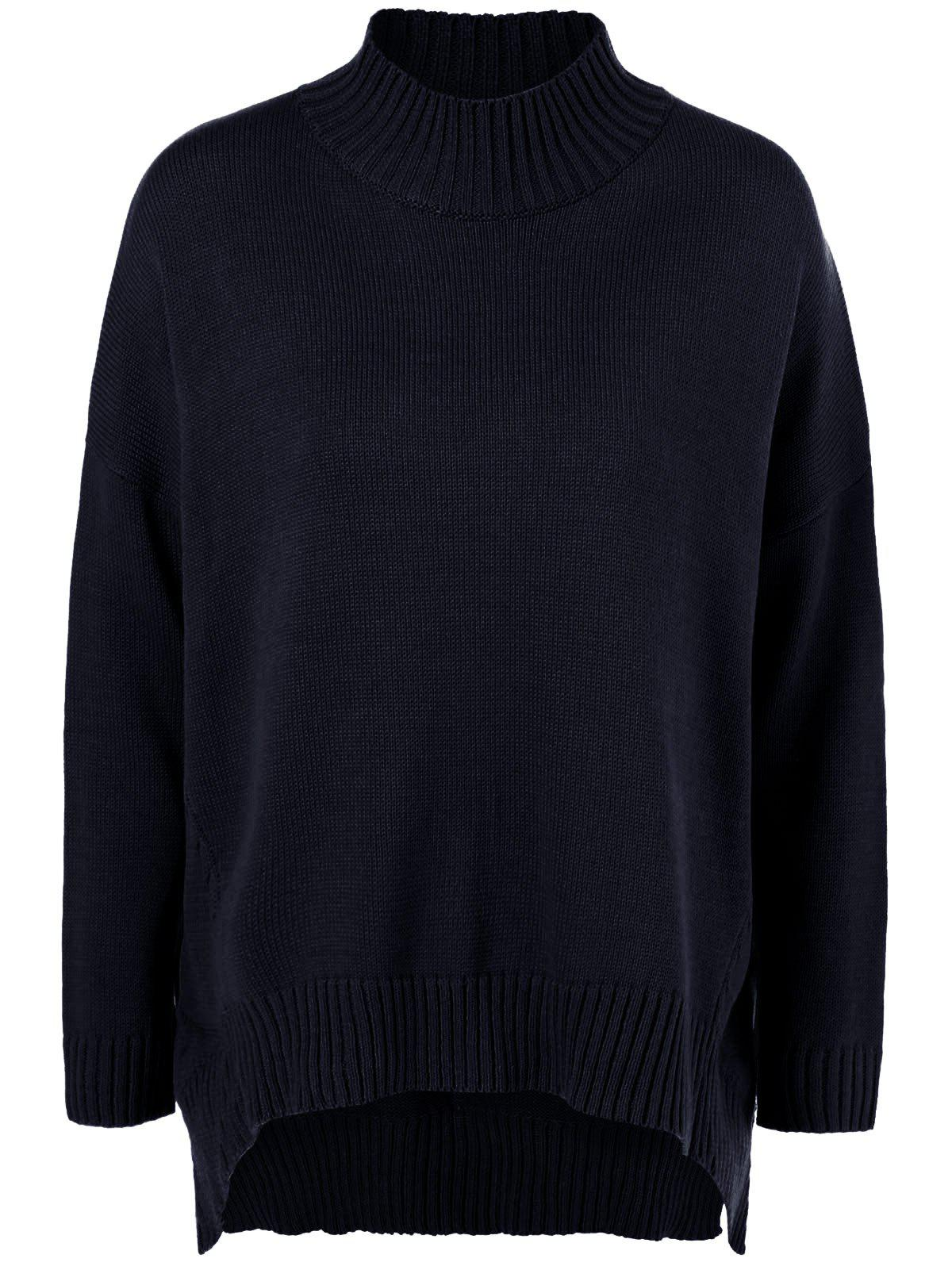 Plus Size Mock Neck Ribbed Sweater inc new deep black women s size xl shimmer ribbed cowl neck sweater $79 147