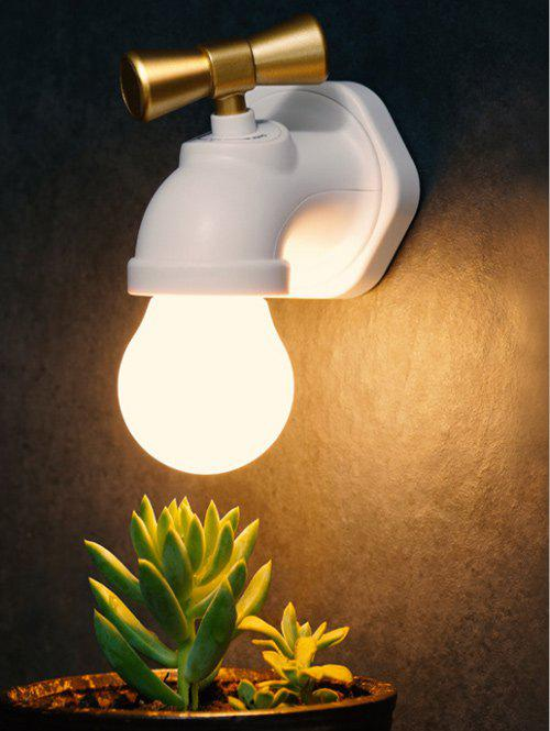 Creative Faucet Sound Controller LED Night LightHome<br><br><br>Color: WHITE