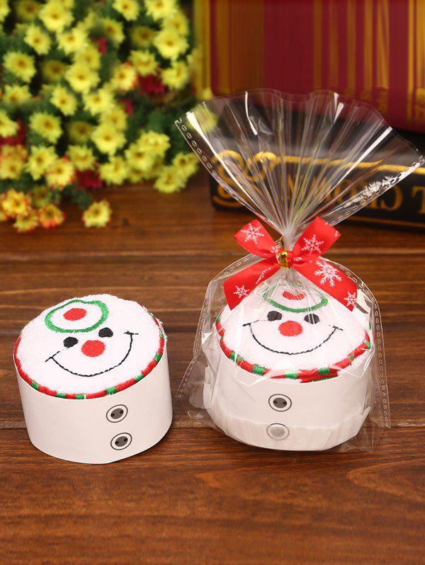 Christmas Decoration Snowman Pattern Cake Towel