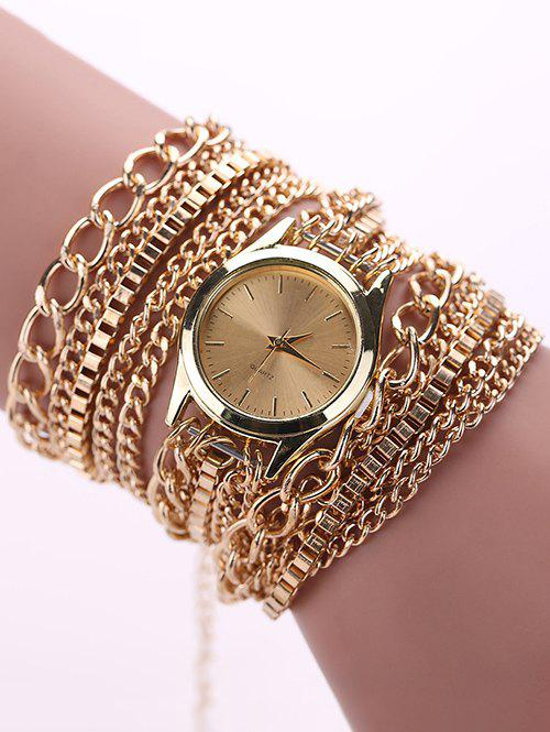 Chain Wrap Bracelet Watch - GOLDEN