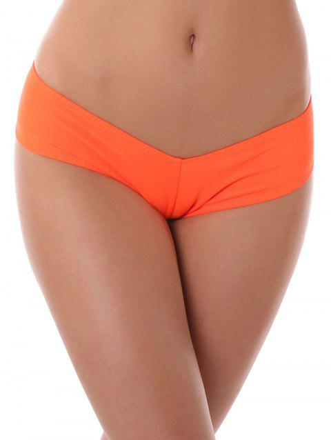 Low Waist Stretchy Panties - ORANGE M
