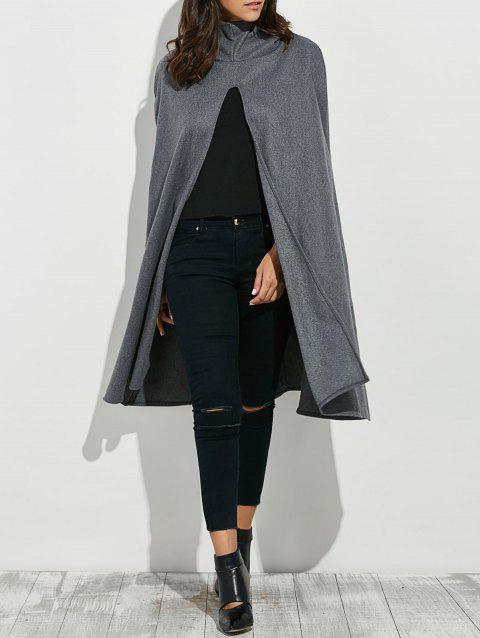 Hooded Loose Cape - GRAY ONE SIZE