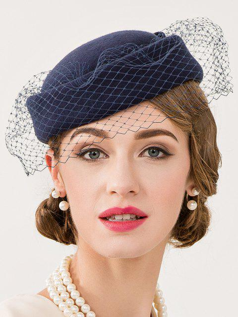 LIMITED OFFER  2019 Cocktail Party Bowknot Veil Felt Pillbox Hat In ... f63337af5bb