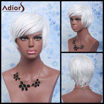 Adiors Short Shaggy Wavy Color Mixed Full Bang Synthetic Wig