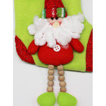 Christmas Decor Santa Claus Hanging Stocking Present Bag - RED