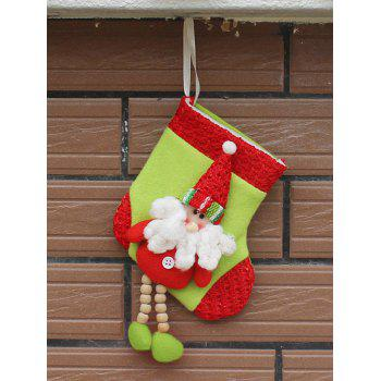 Christmas Decor Santa Claus Hanging Stocking Present Bag