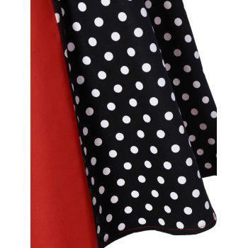 Polka Dot Panel Vintage Dress - L L