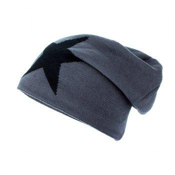 Star Pattern Flocking Knitted Ski Hat