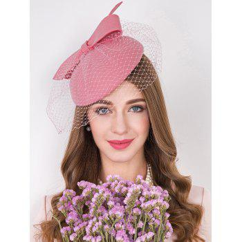 Mesh Yarn Bowknot Cocktail Hat
