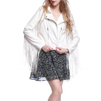Fringe Faux Leather Biker Jacket