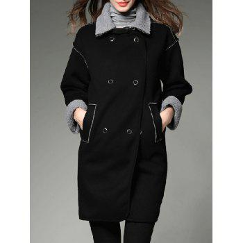 Contrast Sherpa Fleece Long Lined Coat