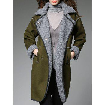Contrast Sherpa Fleece Lined Coat