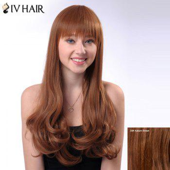 Wavy Neat Bang Long Shaggy Siv Human Hair Wig