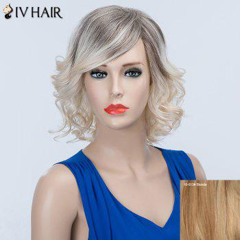 Curly Oblique Bang Long Fluffy Siv Human Hair Wig