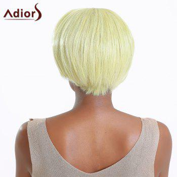 Short Straight Side Bang Color Mixed Synthetic Wig - COLORMIX
