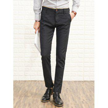 Slim Fit Zipper Fly Heather Chino Pants