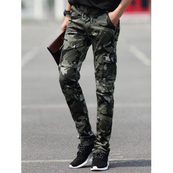 Slim Fit Pocket Camouflage Cargo Pants