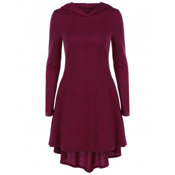 Hooded High Low Hem Dress