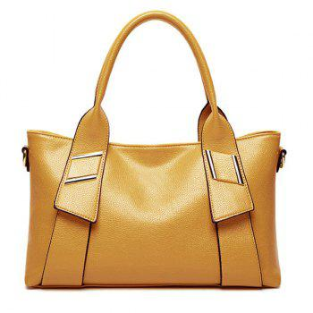 Stylish Solid Color and Letter Design Women's Tote Bag - YELLOW