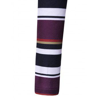 Colorful Striped Asymmetrical T-Shirt - STRIPE L