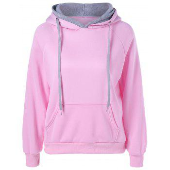 Pocket Two Tone Pullover Hoodie
