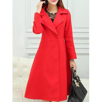 Lapel High Waist A Line Coat