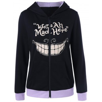 We Are All Mad Here Print Hoodie