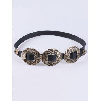 Triple Buckle Removable PU Belt