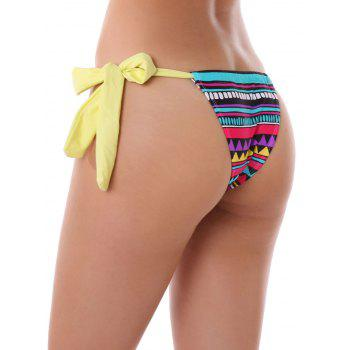 Geometric Print String Thongs - XL XL