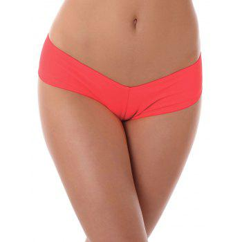 Low Waist Stretchy Panties - RED RED