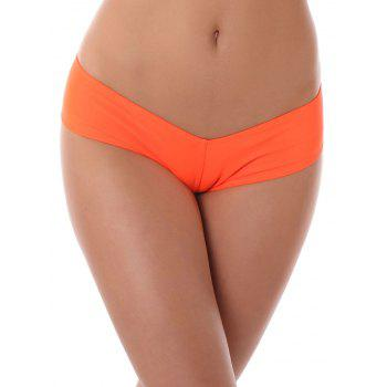 Low Waist Stretchy Panties - ORANGE ORANGE