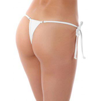 String Metal Embellished Thongs - WHITE WHITE