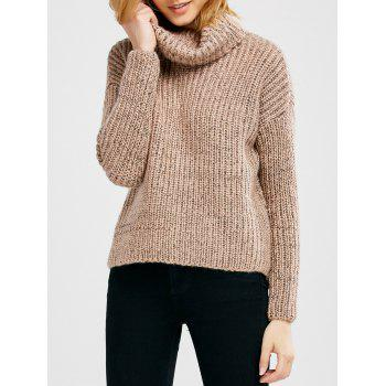 Turtle Neck Heathered Sweater