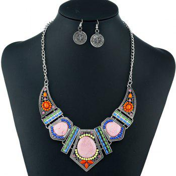 Bohemian Beaded Necklace with Earrings
