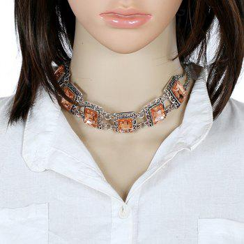 Alloy Fake Gemstone Necklace