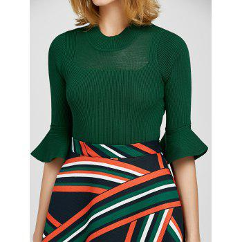 Pull a manches cloches avec Jupe Twin-set rayée - Vert M