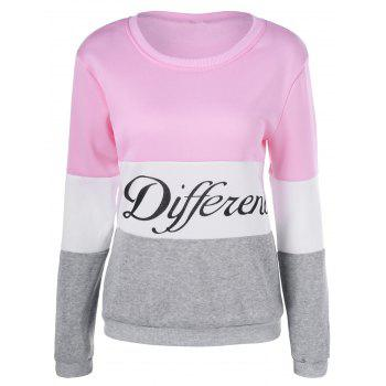 Different Color Block Pullover Sweatshirt