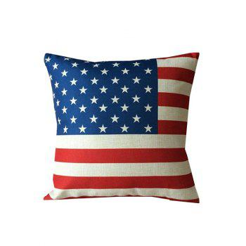 American Flag Linen Home Sofa Decorative Pillowcase