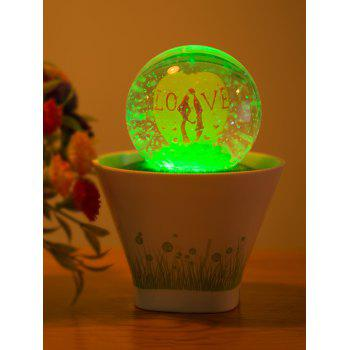 Color Change Lovers USB Glass Ball Bonsai LED Night Light