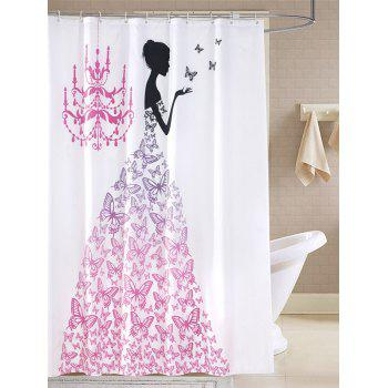 Waterproof Butterfly Fairy Printed Bathroom Shower Curtain
