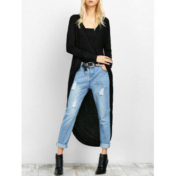 Twisted Drape Front High Low Top