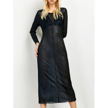 Semi Sheer Long Dress