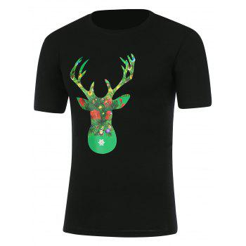 Round Neck Graphic Christmas T-Shirt