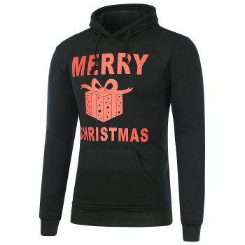 Long Sleeve Gift Box Printed Christmas Hoodie