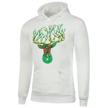 Kangaroo Pocket Graphic Christmas Hoodie